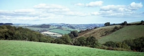 View from Pennywell Farm across to Buckfastleigh